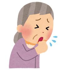 咳をしている老人