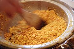 卵黄油の製造過程